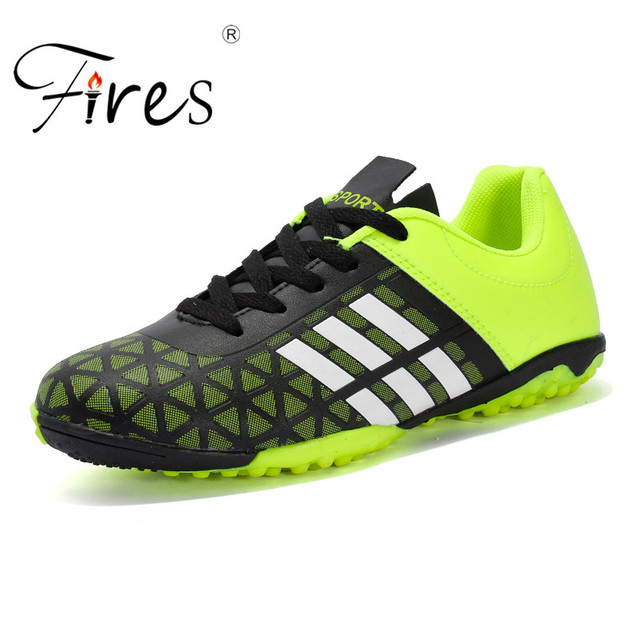 c886fd10c Fires Men Boy Kids soccer shoes for artificial turf Football Soccer Shoes  TF Hard Court Sneakers Trainers Football Boots Sneaker