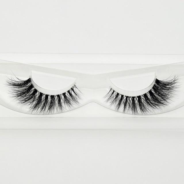 Visofree Mink Eyelashes Invisible Band Lashes Natural 3D Mink False Eyelash Full Strip Transparent band lashes cilios posticos 4