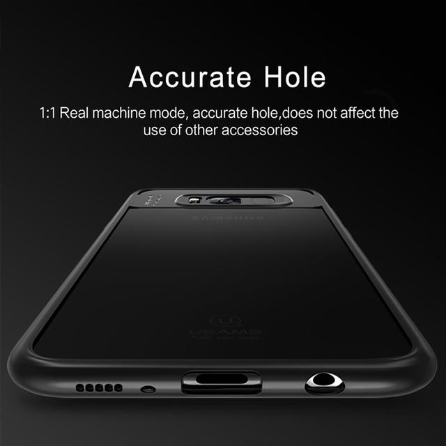 Para Samsung Galaxy Caso USAMS S8 de Proteção Integral TPU & Acrílico Tampa Traseira transparente para Galáxia S8 Mais Caso Com o Tipo C cabo