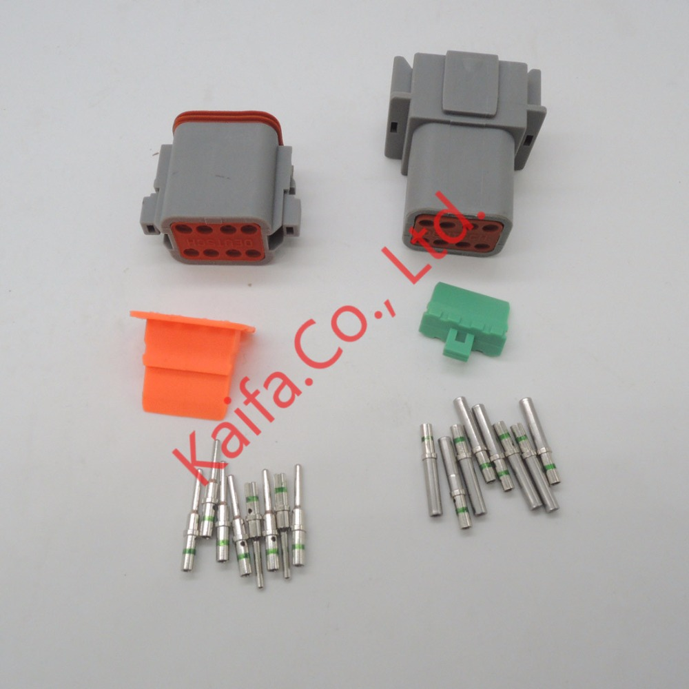 14 GA,10 sets Kit Deutsch DT 2/3/4/6/8/12 Pin Waterproof Electrical ...