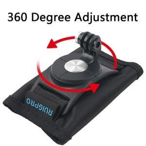 Image 2 - Shoulder Strap Backpack Mount Bracket Holder Stand for GoPro Hero 8 7 6 5 4 SJCAM EKEN Yi 4K DJI OSMO Action Camera Accessories