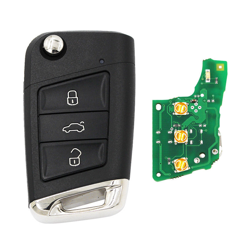 Image 2 - Folding Remote Key Fob 434MHz with ID48 Chip for Volkswagen MQB For Golf VII Golf 7 MK7 Skoda Octavia A7 2017 FCCID: 5G0 959 753-in Car Key from Automobiles & Motorcycles