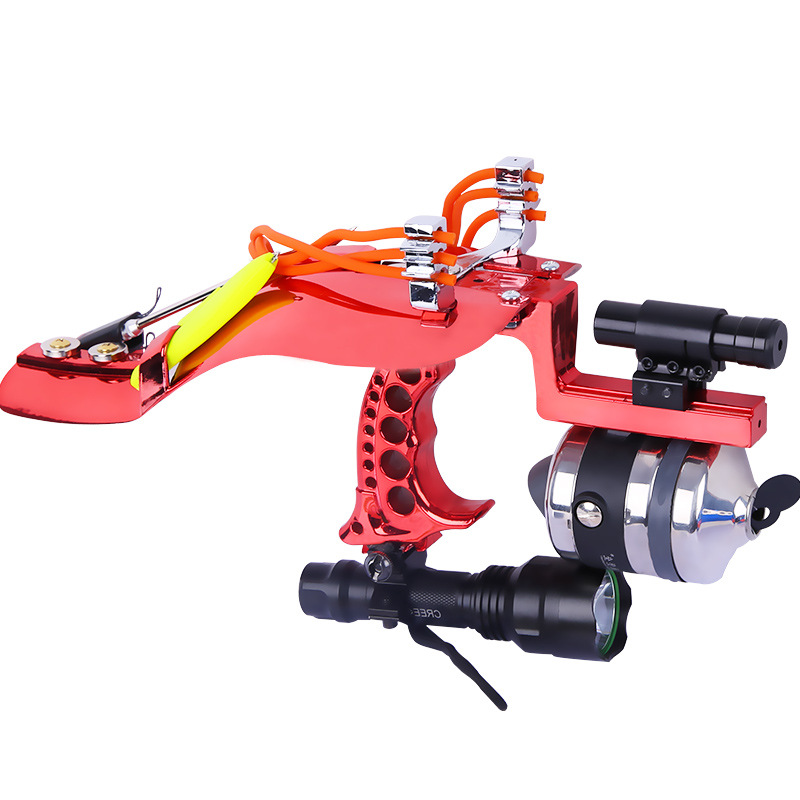 2019 New Powerful Catapult Full Set Fishing Slingshot Laser With Darts Catch Fish