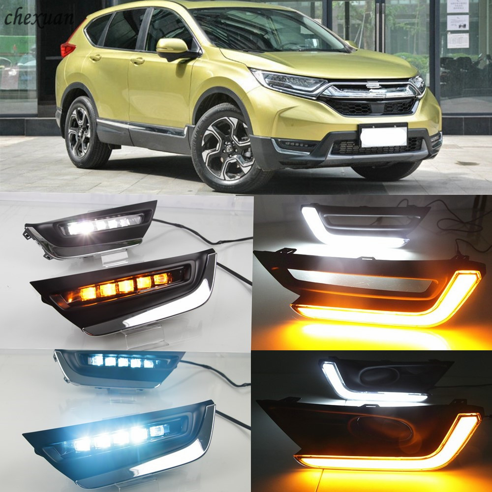 Fog light Daytime Running Light DRL LED Day Light For Honda CR-V CRV 2017-2019