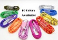 2000pcs Strong Fabric Braided Micro USB Cable Data Sync Lead Charge Cord Charger Wire for SAMSUNG Galaxy Sony HTC iPhon