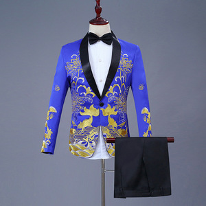 Image 5 - New Clothes 2019 Casual Coat Blazer Men Glitter Fit Dress White Red Blazers Suits Stage Wear Costumes For Singers Mens Banquet