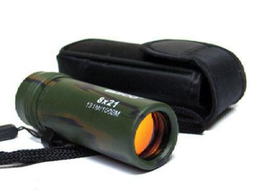 Mini camo army compact 8x21 bermata teleskop lensa optik dilapisi