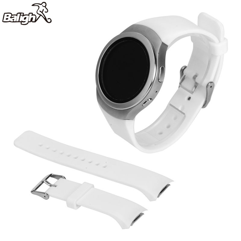 Sport Silicone Band For Smart Samsung Galaxy Gear S2 SM-R720 Watch Band Stylish Silicone Replacement Strap nylon watchband for samsung galaxy gear s2 r720 durable canvas nato replacement band strap for sm r720 smart watch with adapters