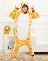 Cute Girafee Animal Pajamas Homewear Winter Warm Sleepwear Robe Cartoon Cosplay Pijamas Unisex Adults Flannel Onesies