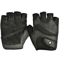 2015 Fashion Men Women Black Gloves Anti Slip Sport Gloves Half Finger Genuine Leather Weightlifting Gym