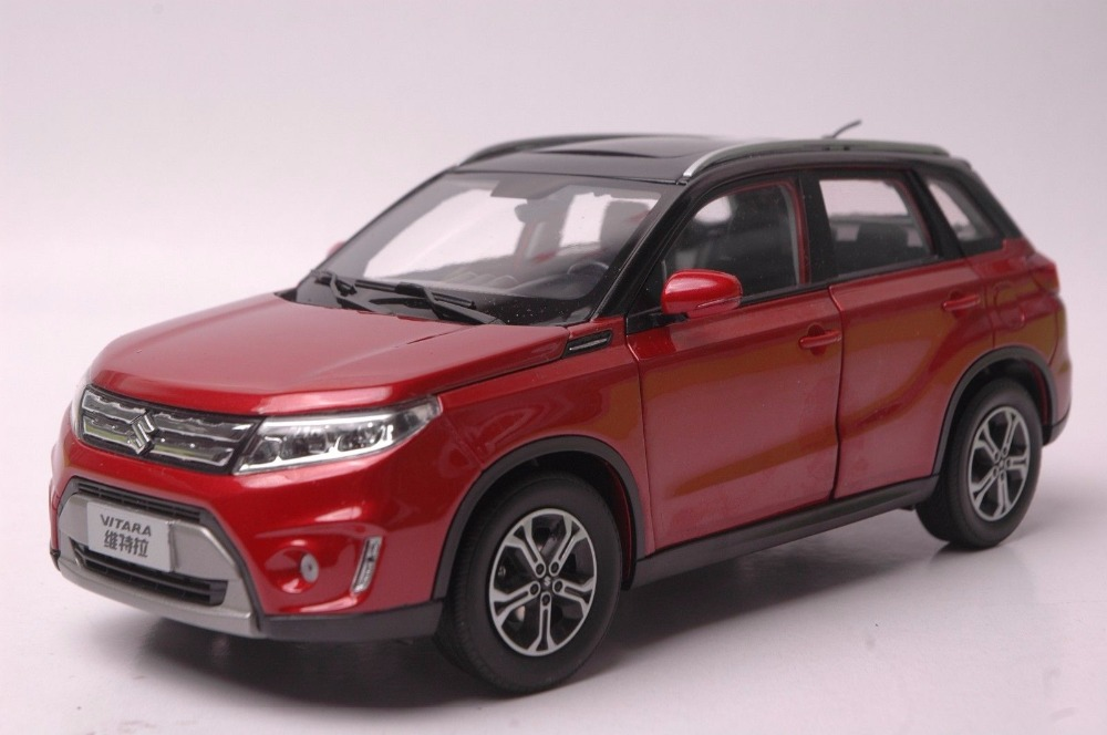 1 18 diecast model for suzuki vitara 2016 red suv alloy toy car miniature collection gifts gran. Black Bedroom Furniture Sets. Home Design Ideas