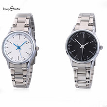 High Quality Brand Lovers Watches Stainless Steel Quartz Anticlockwise Valentines Day Gift For Boyfriend Couple Wristwatches