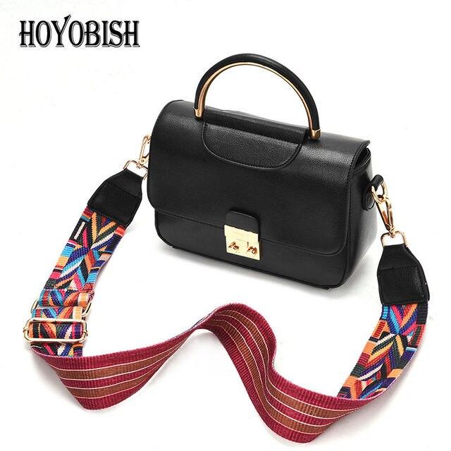 ee97f2c8dd HOYOBISH Nuovo Cerchio di Metallo Maniglia Borse Per Le Donne Sacchetti di  Spalla Crossbody Bag Con