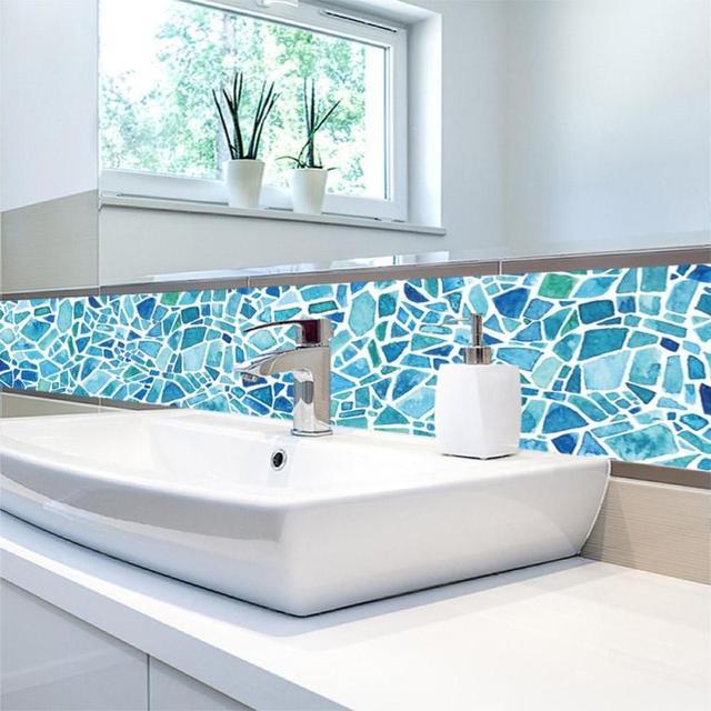 5pcs/set PVC Waterproof Wall Sticker Bathroom Self ...