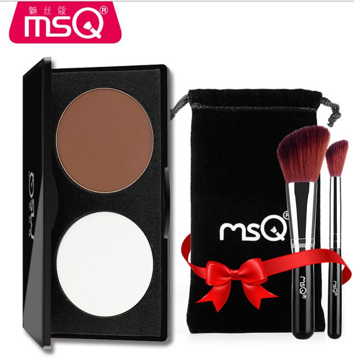 by ems or dhl 20pcs 2 Color Face Shading Powder Highlighter Palette Set Powder Makeup Face Contour Grooming Pressed Powder