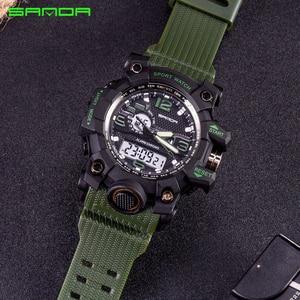 Image 4 - SANDA Men Military Sports Watches Male LED Digital Watch Waterproof Watch Men Luminous Chronograph Relogio Masculino