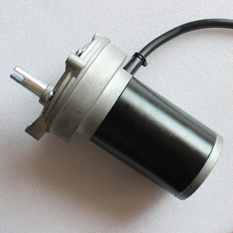 Gear motor brushed 12V DC permanent magnet 62ZY66WJ 40W 4100RPM CE HNBAN Used at car with gear 40w 50w hand cranked generator dc small generator 12v 24v permanent magnet dc motor dual use