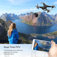Foldable RC Drone ToyPark XS809W Smartphone RC Quadcopter With Settable Flight Trajector 2MP Camera Drone