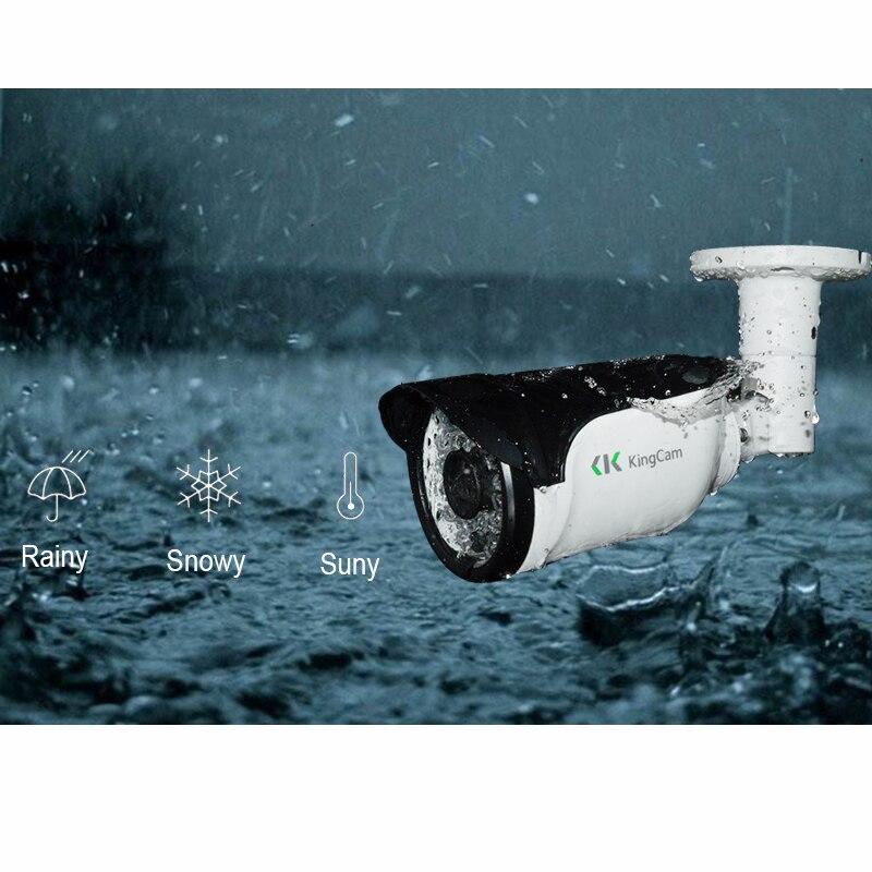 KingCam Metal HD Wide Angle 2.8mm lens 1080P 25fps Frames  Outdoor Waterproof  IP Camera  ONVIF Bullet Security CCTV  2MP IP Cam