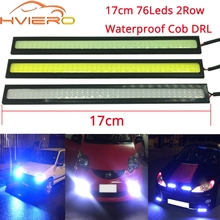 цена на 1pcs 17CM LED COB DRL Daytime Running Lights DC12V External Waterproof Led Car Light Source Car Styling Parking Fog Bar Lamp