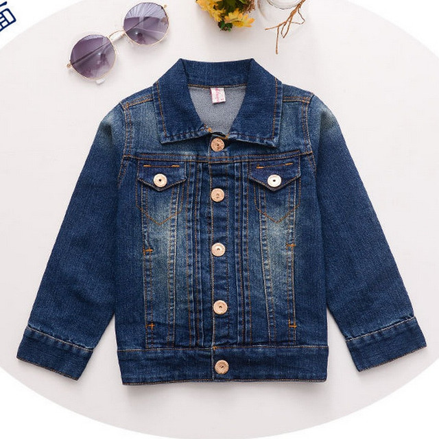 Hot Selling 2017 New Arrived!Baby Boys Girls Autumn Winter Jacket Boy Jeans Coat Kids Outerwear Free Shipping F33
