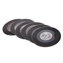 6 Pcs/set Retro Vinyl Drink Coasters