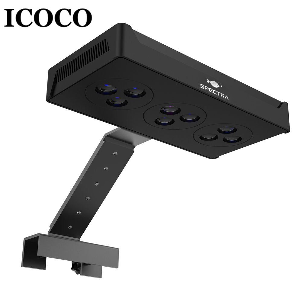 ICOCO LED Aquarium Light 30W Indoor Aquarium LED Light Saltwater Lighting with Touch Control for Coral Reef Fish Tank Novelty Lighting    - title=