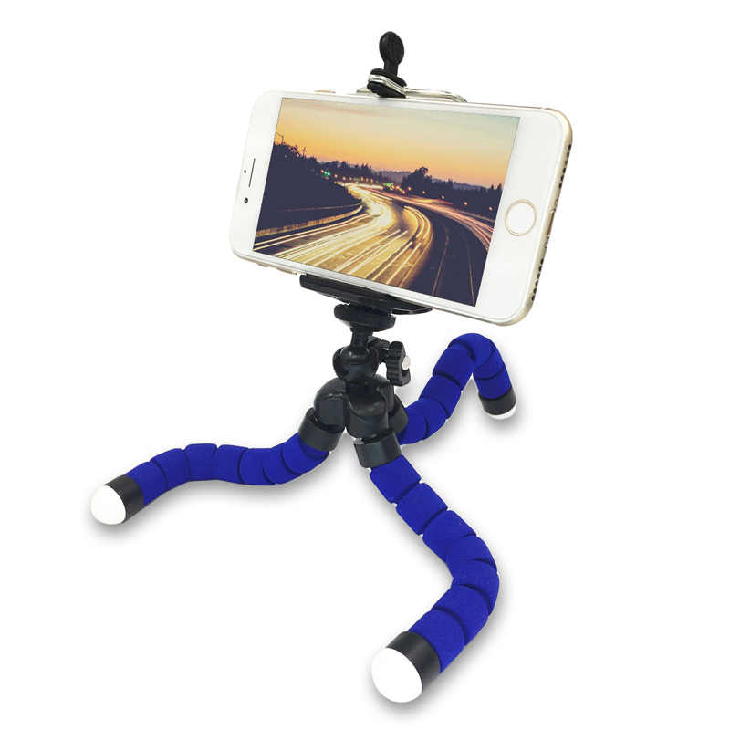 GAQOU ขาตั้งกล้อง + คลิป MINI MINI สำหรับกล้อง Case for Mobile Phone Portable Universal Phone Holder Phone Stand ัวป๊อปติดมือถือที่ติดหลังมือถือ (Octopus ฟองน้ำขาตั้งกล้องพร้อมด้วยรีโมท