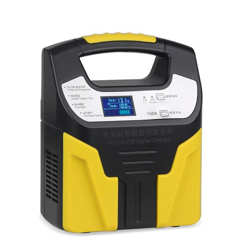 Charge intelligente pour batterie au plomb 10A 6A 3A 12 v 24 v chargeur de batterie de voiture entièrement automatique 220 V chargeur de moto