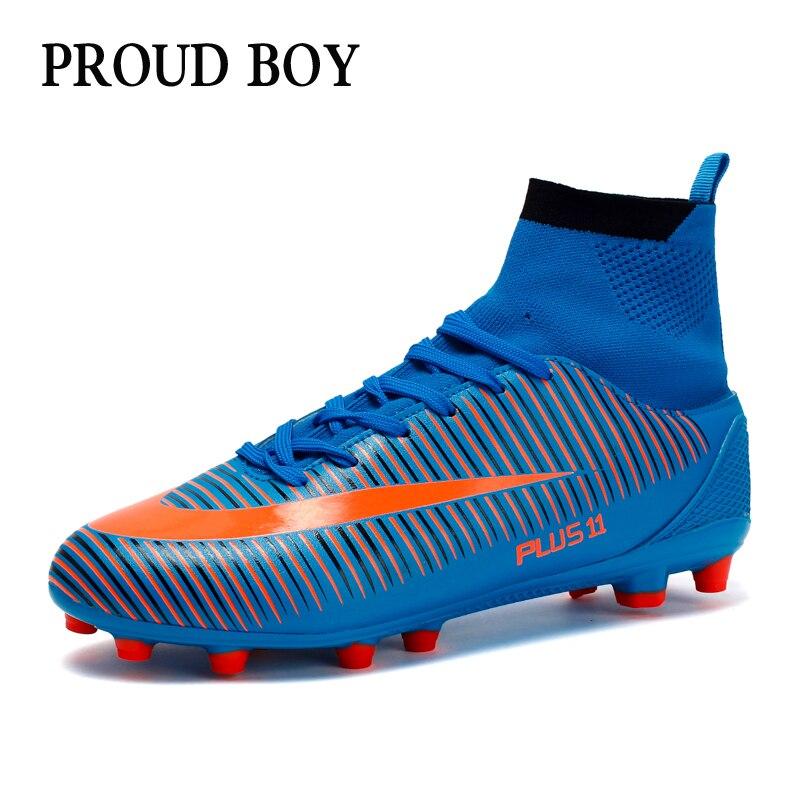 De tobillo de los hombres de alta Superior de Formación de fútbol zapatos  AG único al 642d1f7e59528