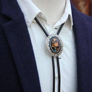 Image 3 - Original designer bolotie alloy collet colorful stone bolo tie for men personality neck tie fashion accessory