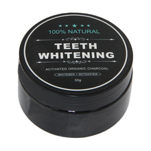 Teeth whitening activated bamboo Charcoal powder for oral hygiene and great smile