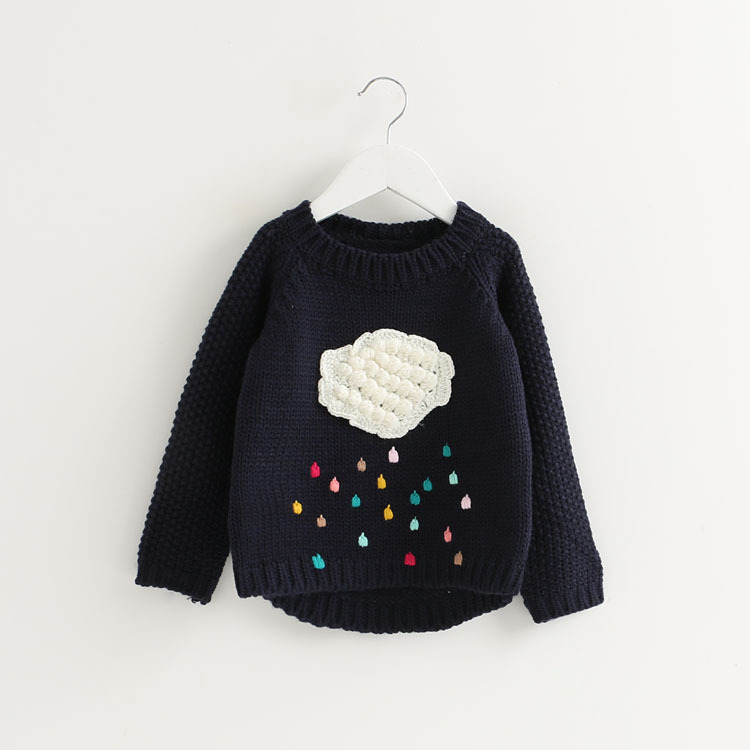 1dc8f49d8 V TREE Girls Sweater Cloud Sweaters For Girls Knitted Kids Sweater ...
