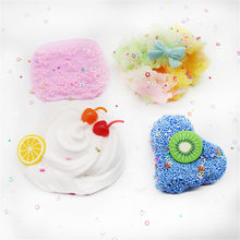 Putty Slime Decoration Charm Slime Kit DIY Color Mud Boxed Cherry Cotton Blue Clay Cute Light Plasticine antistress CrystalClay(China)