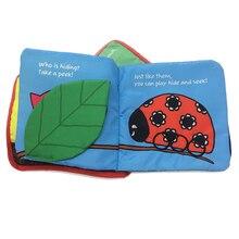 Juguetes de libros de tela de algodón suave para el aprendizaje del bebé de animales de dibujos animados niño pequeño desarrollo temprano libros de historia inglesa educativos