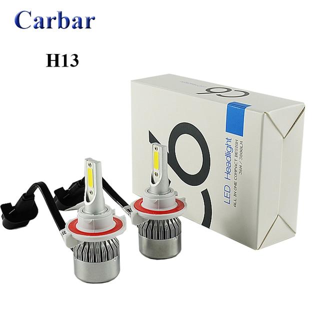 Led Replacement Headlight Bulbs >> C6 H13 Led Headlight Bulbs Conversion Kit 36w 3800lm H13 Hi Lo Led