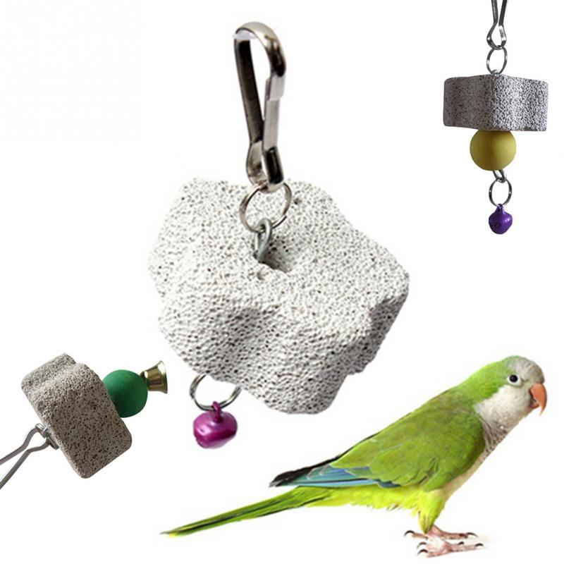 Parakeet Products Birds Toys Parrot Mouth Grinding Blah Stone Bird Toy Molar Stone Cage Toys