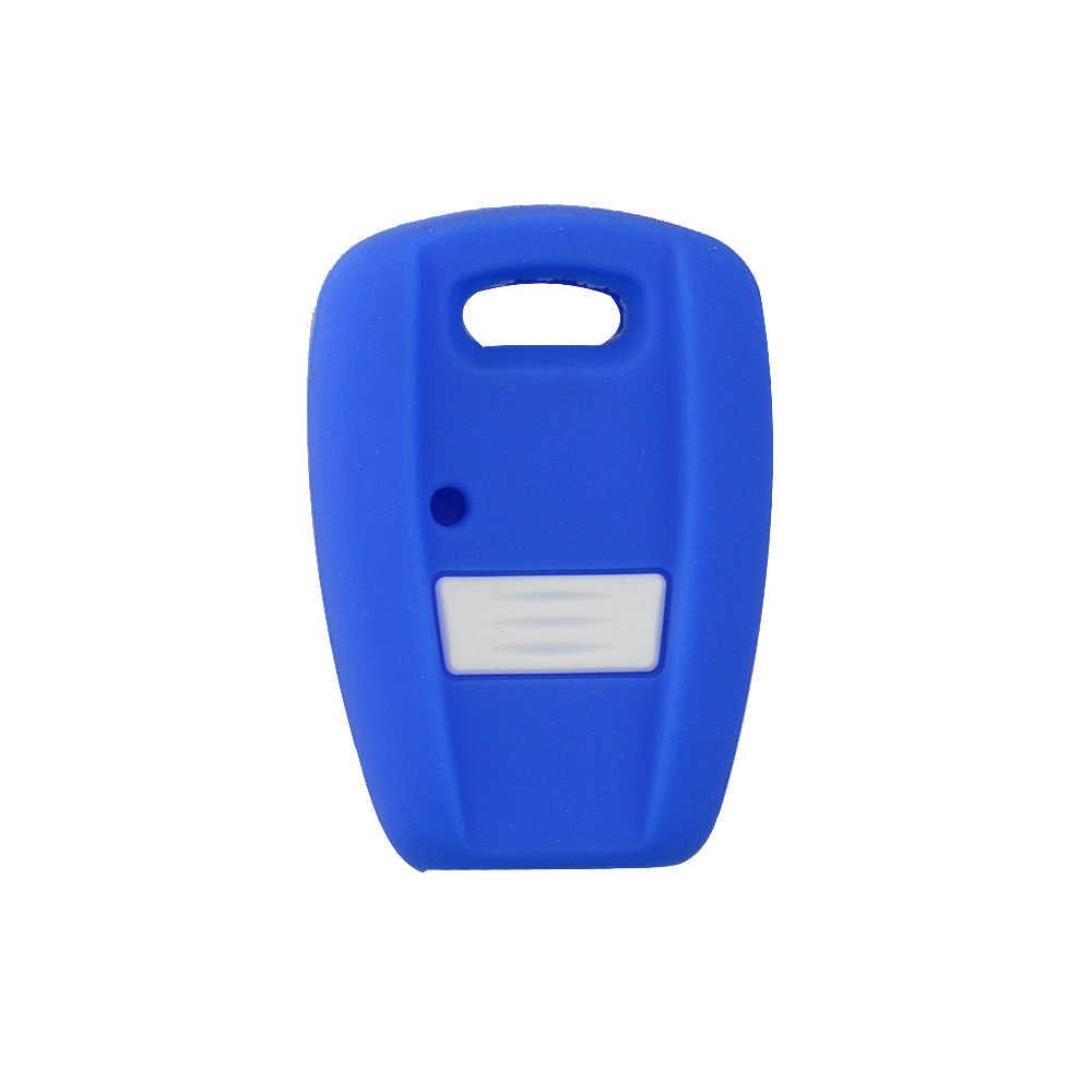 OkeyTech Zachte Rubber Autosleutel Case Silicone Key Cover voor Fiat punto stilo 500 ducato bravo panda auto sleutel leeg transponder sleutel