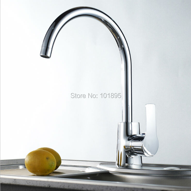 L16853 Chrome Finishing Brass Material Deck Mounted Cold and Hot Water Kitchen TapL16853 Chrome Finishing Brass Material Deck Mounted Cold and Hot Water Kitchen Tap