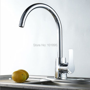 L16853 Chrome Finishing Brass Material Deck Mounted Cold and Hot Water Kitchen Tap