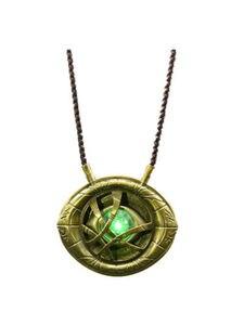 Image 2 - Doktor Strange Eye of Agamotto Cosplay naszyjnik wisiorek stop LED Light naszyjniki akcesoria do biżuterii prezent