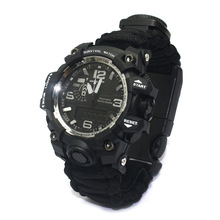 New Arrival Outdoor Sports Watch with Emergency Compass Thermometer Survival Tools Electronic Dual Luminous Waterproof Watch все цены