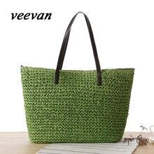 VEEVAN 2016 горячая новая Европа отдых Сен департамент Корейских простой плечо сумка из плетеной соломы пляжная сумка женская сумка