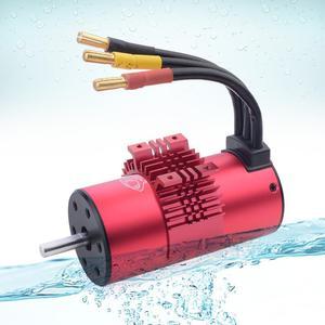 Image 2 - KK Motor sin escobillas para coche de control remoto, juego de 3674 1900KV 2250KV 2500KV con disipador de calor 120A ESC para coche de control remoto 1/10 1/8