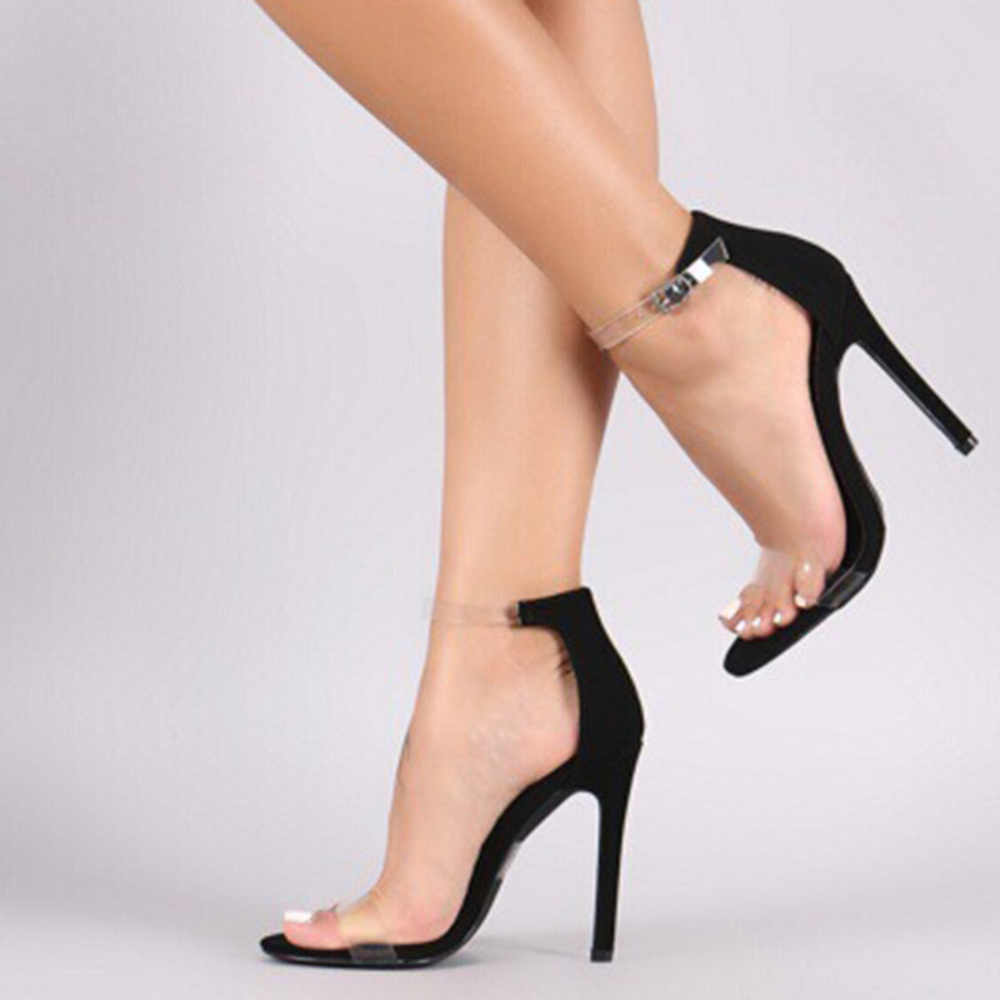 298f3a772f Lzzf 2018 PVC Clear Platform Shoes Woman Sandals High Heels Waterproof  Female Transparent Peep Toe Wedding Shoes Women Sandalia