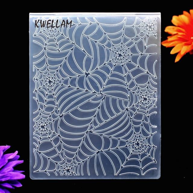 Spider Web Halloween Deco Plastic Embossing Folder For Scrapbook DIY Album Card Tool Plastic Template 12.1x15.3cm KW6121507