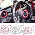 Brand New ABS Plastic UV Protected Interior Rings Mini Chequred Style Black Color For mini cooper Countryman Only (11 Pcs/Set)