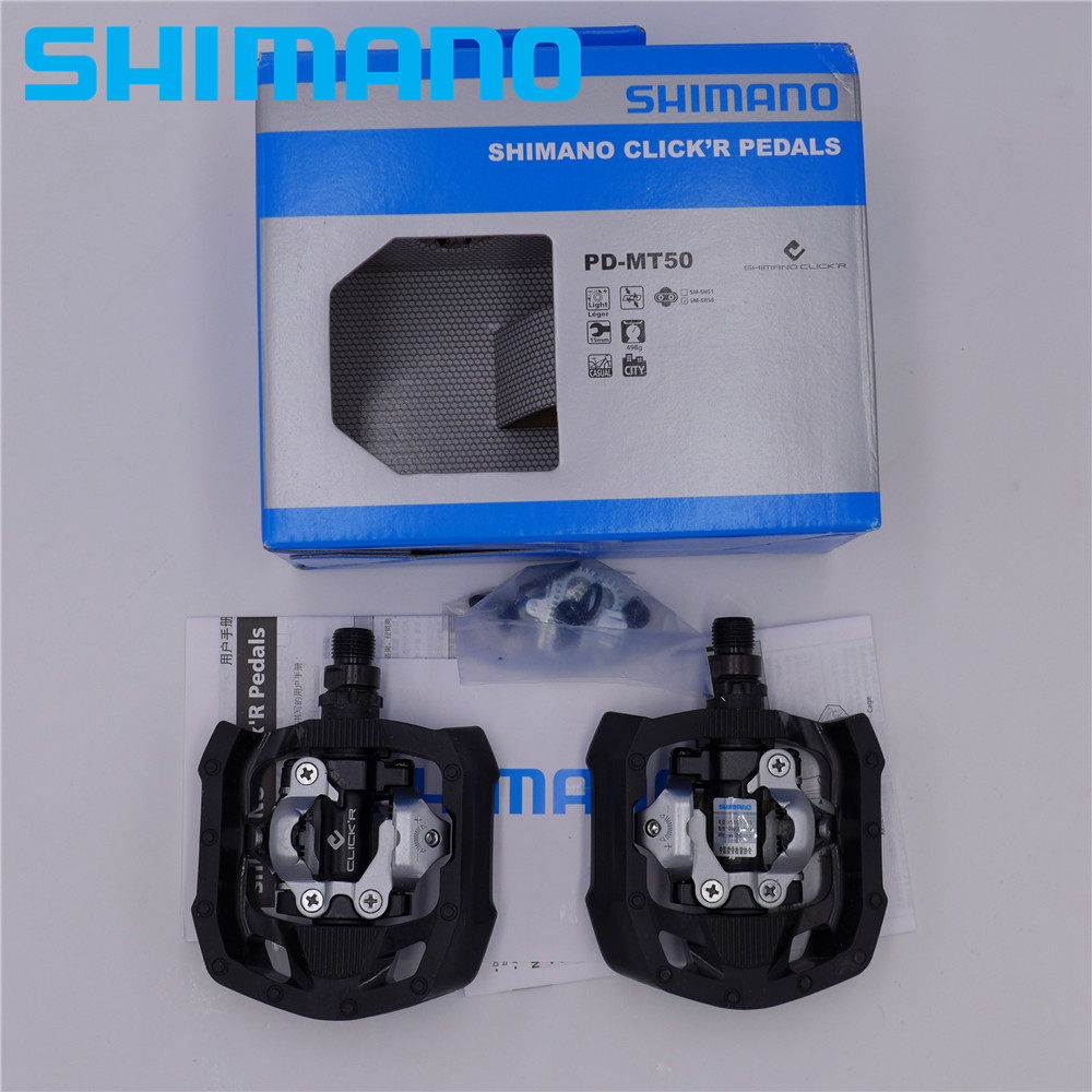 SHIMANO PD-MT50 Click'r Pedals w/Cleat (sm-sh56) City/Touring Bike Bicycle MT50