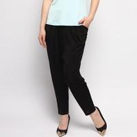 100 Silk Casual Pants Pendant Skinny Pants Nine Black Haren Pants