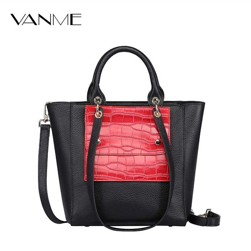 ФОТО Hot Sale Women Famous Brand Designer High Quality Handbags Red Green Black Gray Cowhide Fashion Wild Shoulder Bags Bucket Bags